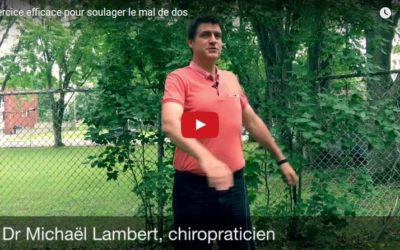 Soulager les maux de dos : un exercice efficace